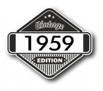 VIntage Edition 1959 Classic Retro Cafe Racer Design External Vinyl Car Motorcyle Sticker 85x70mm